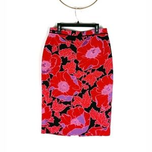 Who What Wear floral print pencil skirt